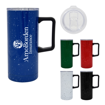 17 Oz. Speckled Stainless Steel Travel Tumbler