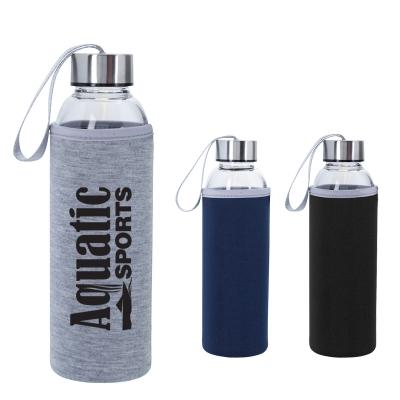 18 Oz. Aqua Pure Glass Bottle