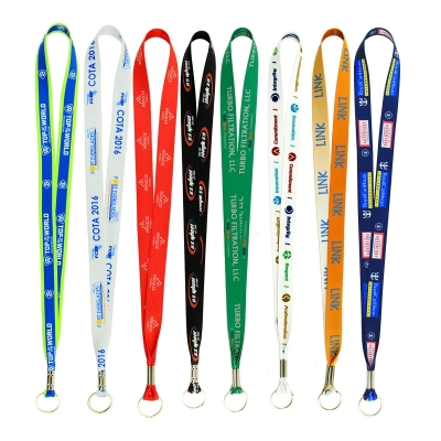 Full Color Imprint Smooth Dye Sublimation Lanyard - 1/2