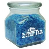 Small Square Jar w/ Spa Bath Crystals