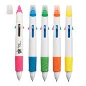 Quatro Pen with Highlighter
