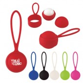 Rubberized Lip Moisturizer Ball with Holder