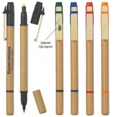 Dual Function Eco-Inspired Pen with Highlighter